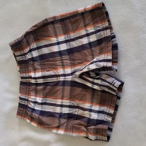 Carter's 18 Month Boys Plaid Elastic Waist Shorts